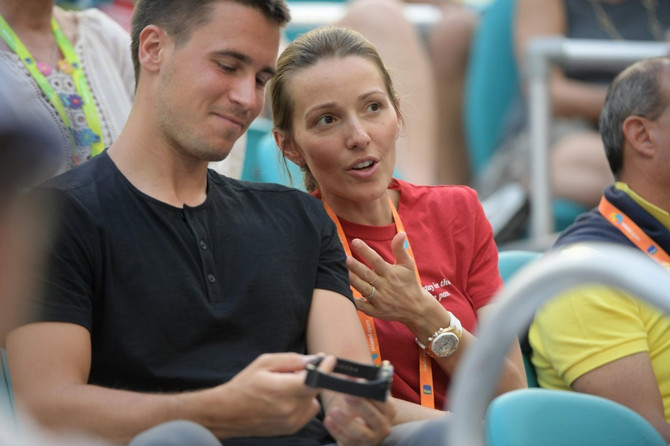 Jelena i Đorđe Đoković  u Majamiju