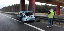 Wypadek na S3 pod Zieloną Górą. Zderzył się motocykl i dwie osobówki
