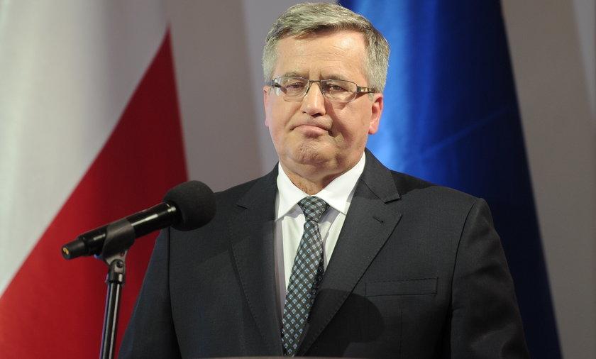Prezydent Bronisław Komorowski podsumowuje 5 lat prezydentury