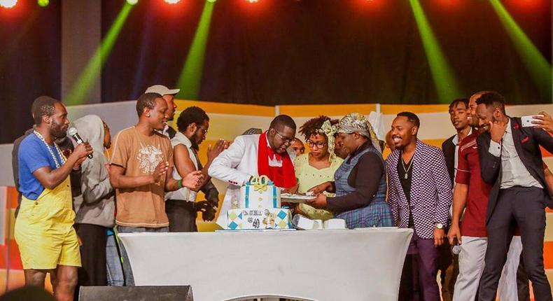 File image of comedians on Churchill show when the Churchill celebrated his 40th birthday