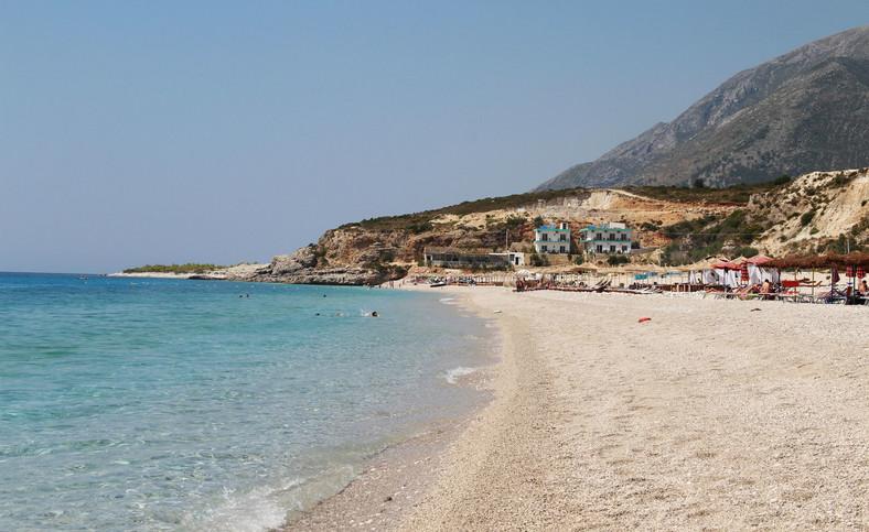 Plaża w Dhërmi, Albania