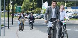 Prezydent Katowic na rowerze!