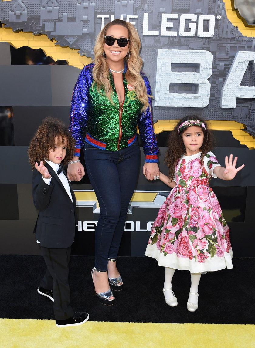 """Mariah Carey z dziećmi na premierze """"Batmana"""""""