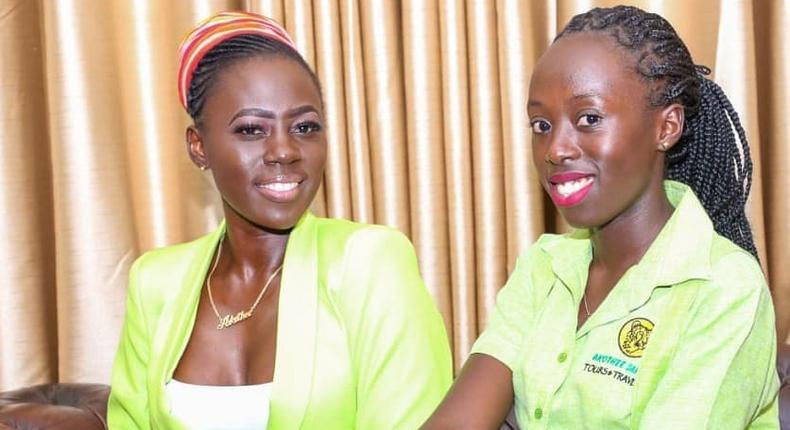 Akothee with daughter Vesha Okello