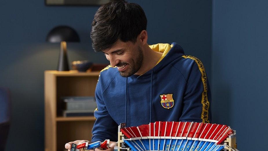 Stadion zespołu FC Barcelona z klocków