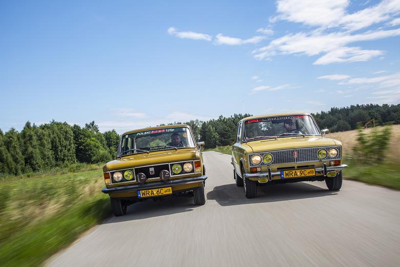 Odwieczni rywale: polski Fiat i radziecka Łada. Ten duet pokazuje wyraźnie,  jak z podobnych komponentów można zbudować dwa zupełnie różne auta.