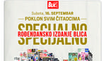 """U subotu 16. septembra specijalno rođendansko izdanje """"Blica"""""""