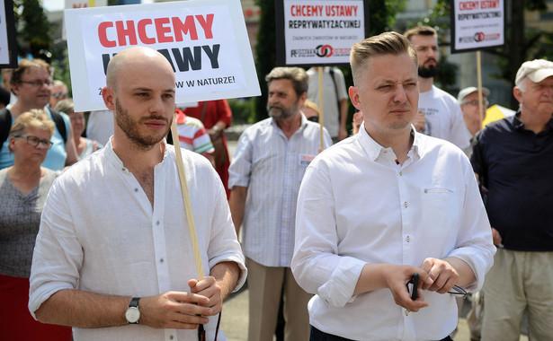 Jan Śpiewak i rzecznik PSL, kandydat na prezydenta Warszawy Jakub Stefaniak