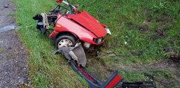 Samochód rozerwało na pół! Horror w Podlaskiem