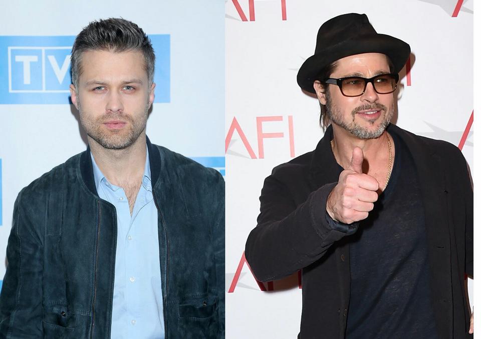 Maciej Zakościelny i Brad Pitt