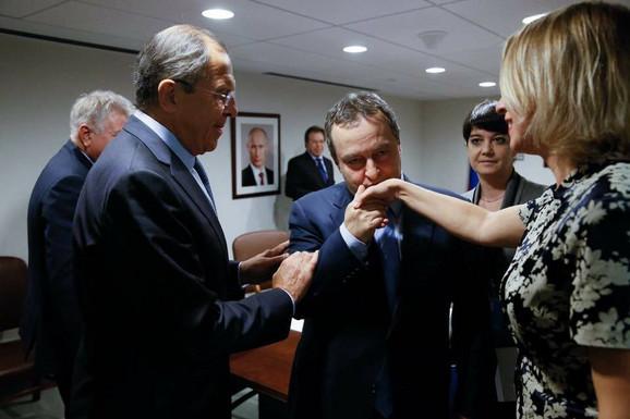 Sergej Lavrov, Ivica Dačić i Marija Zaharova