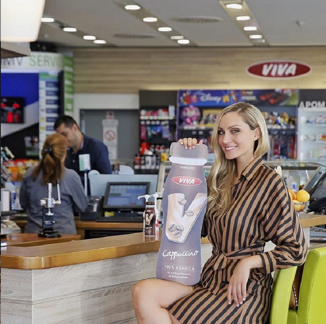 Jelena Gavrilović na OMV pumpi
