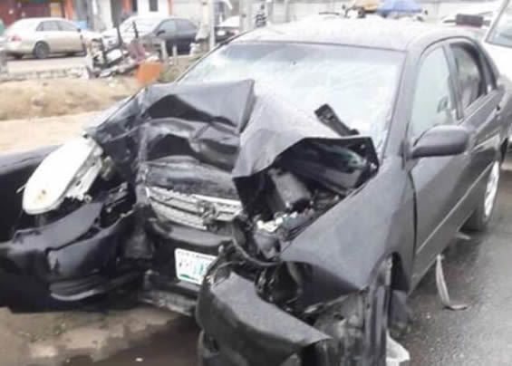 Scenes from the car accident that took the life of Henry Okoro [WithinNigeria]
