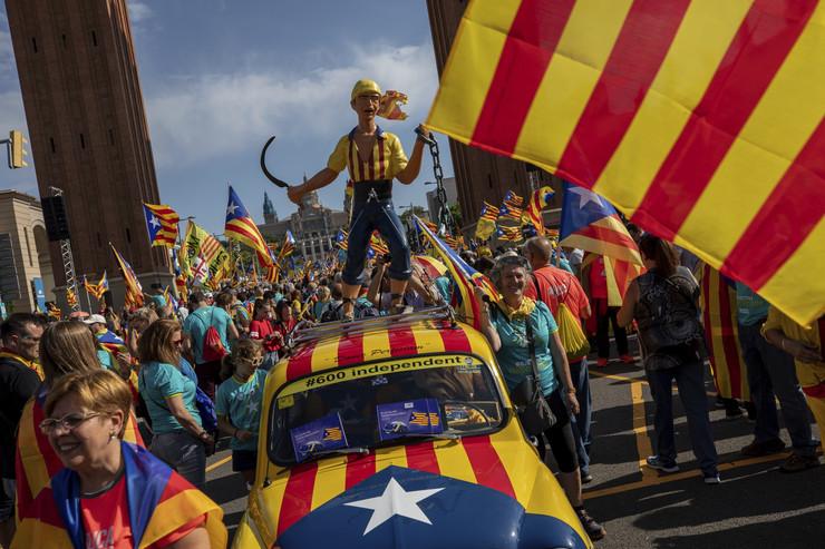 Barselona, Katalonija, protest