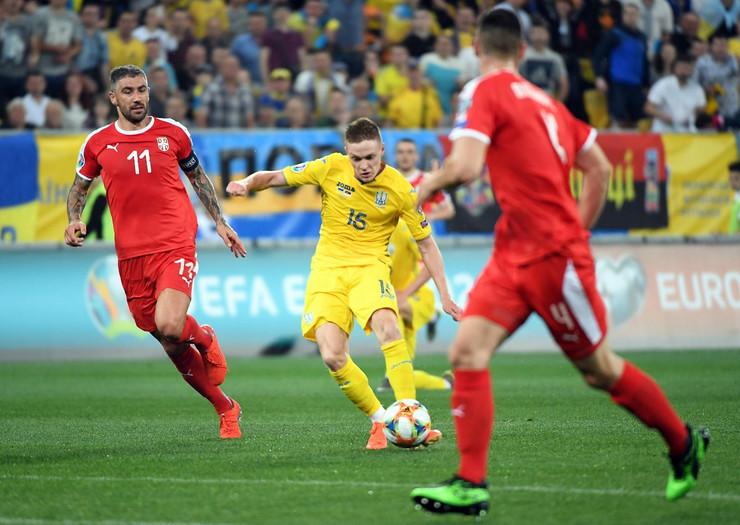 Fudbalska reprezentacija Ukrajine, Fudbalska reprezentacija Srbije