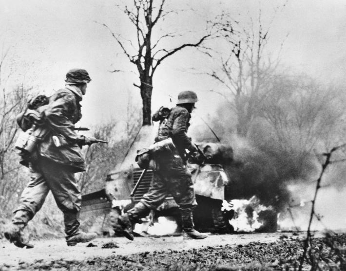German Troops in Battle of the Bulge