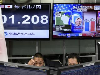 Tokyo stocks dropped during US presidential elections