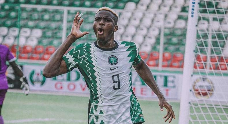 Victor Osimhen has three nominations for the Ballers Awards (Twitter/Super Eagles)