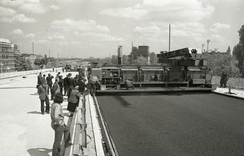 1974 rok. Budowa Trasy Łazienkowskiej