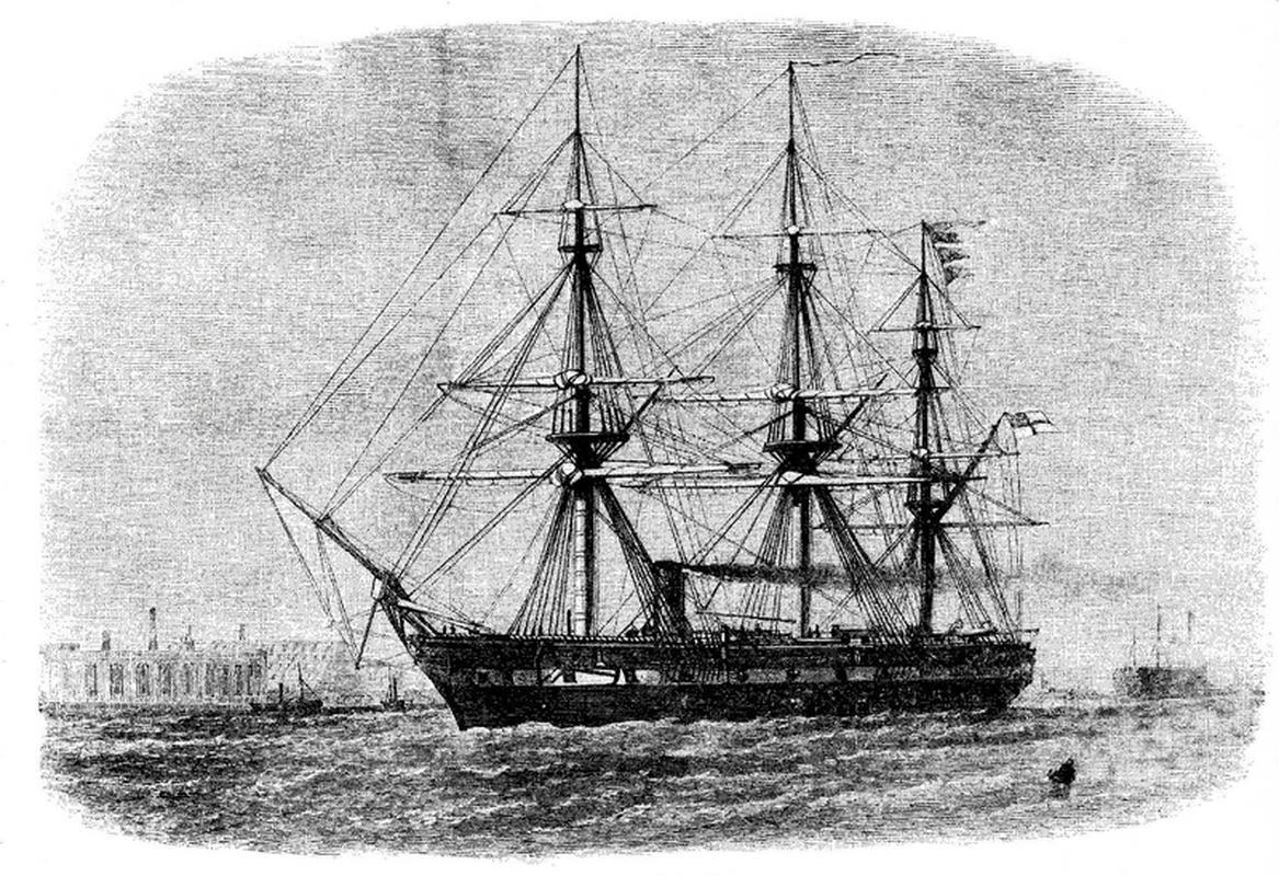 HMS Challenger, który w latach 1872-1876 m.in. odkrył Rów Mariański i Grzbiet Śródatlantycki