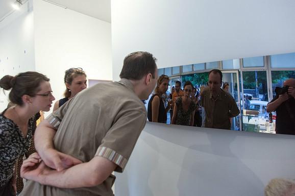 Sa otvaranja izložbe u Salonu MSU