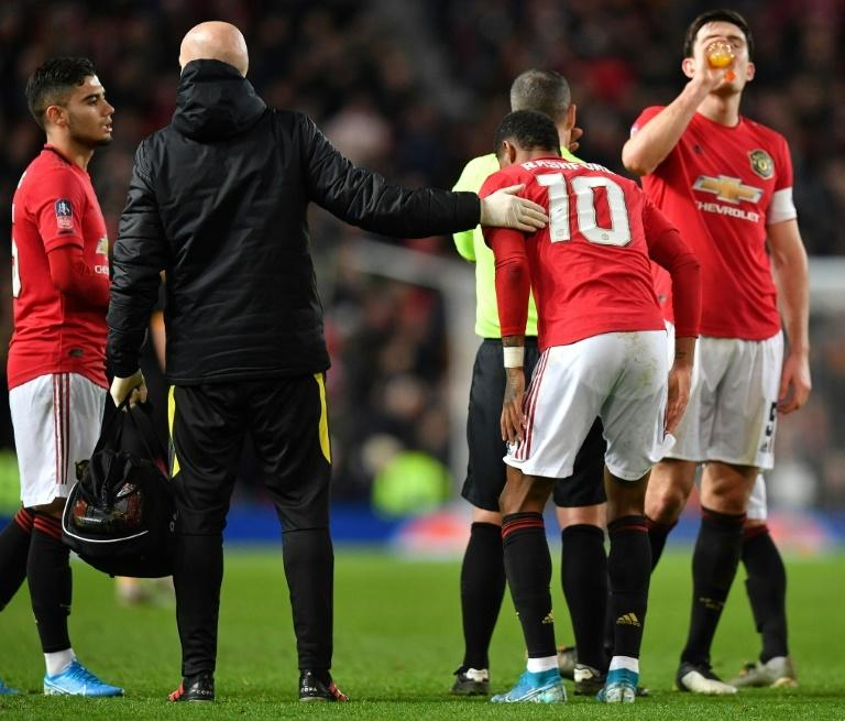 Missing Marcus: Manchester United must cope without top scorer Marcus Rashford for at least six weeks