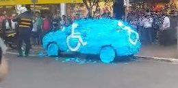 Kara za parkowanie w miejscu dla inwalidów