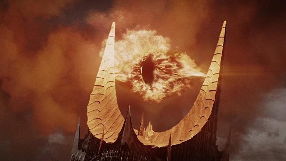 """""""Władca Pierścieni: Powrót Króla"""" - kadr z filmu. Na zdjęciu - Oko Saurona"""