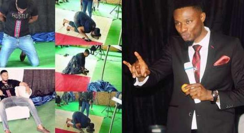 Pastor makes church members lick his shoes to receive miracle money