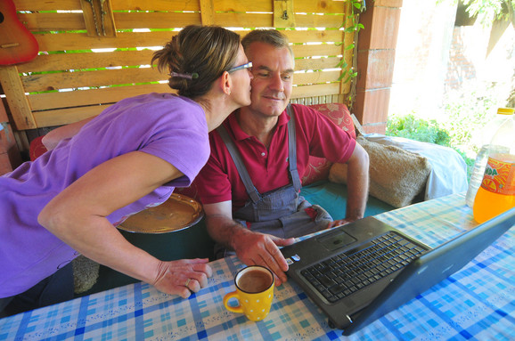 Stolar Mile sa suprugom Sandrom