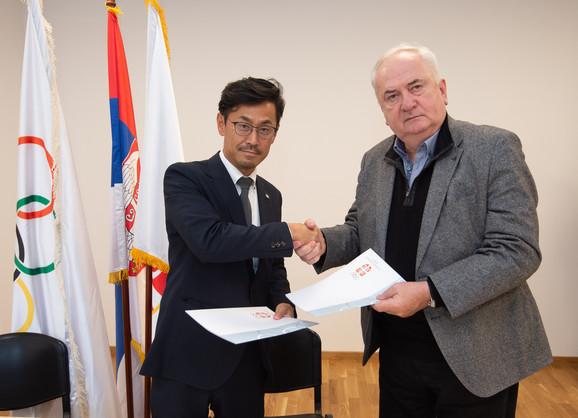 Japanska delegacija grada Karacu sa predstavnicima OKS i KSS