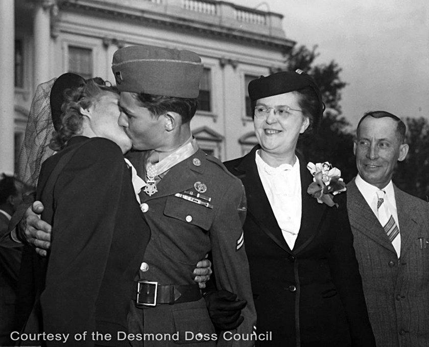 Desmond Doss z żoną