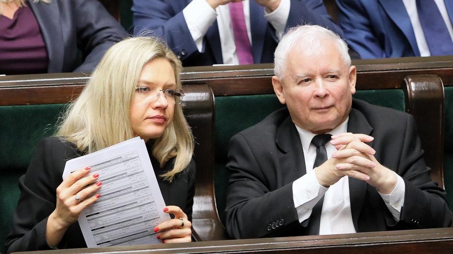 Małgorzata Wassermann i Jarosław Kaczyński