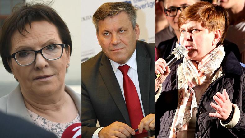 Ewa Kopacz, Janusz Piechociński i Beata Szydło