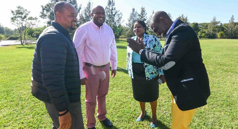 DP William Ruto with Msambweni leaders