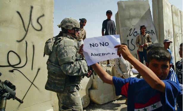 Protest przeciwko obecności sił USA w Iraku. Bagdad, wrzesień 2007