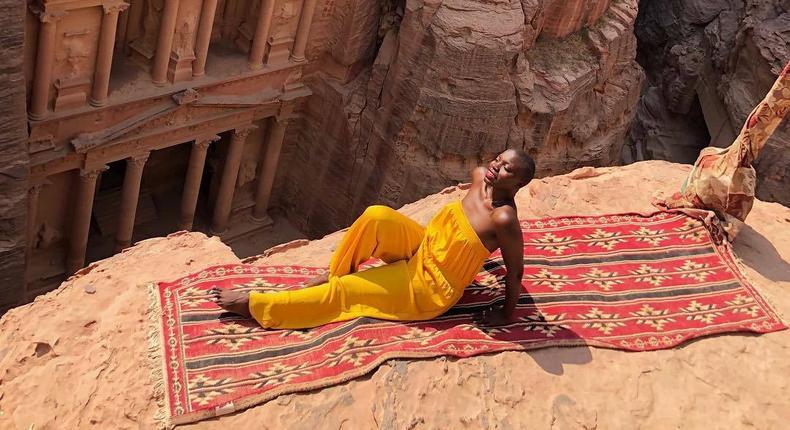 Jessica Nabongo in Petra, Ma`An, Jordan (instagram/thecatchmeifyoucan/)