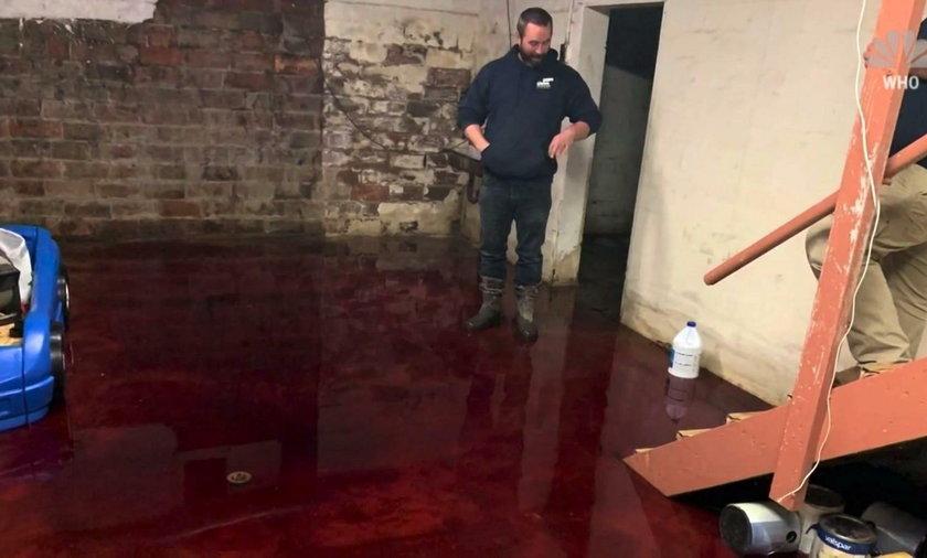 Piwnica tonęła we krwi. Rodzina musiała uciekać