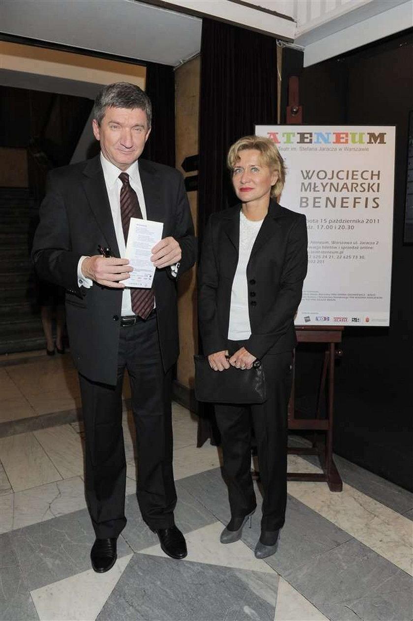 Znani pokazali żony. Na benefisie Młynarskiego. Foto
