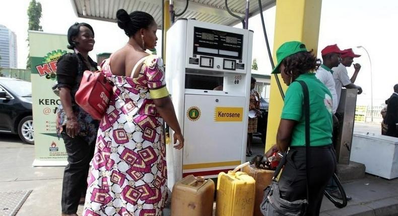 A petrol attendant on duty.