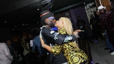 Burna Boy gushes about his girlfriend Stefflon Don as they holiday in Ghana