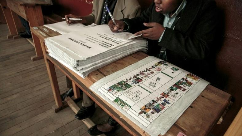 Election officials began counting ballots in Madagascar, one of the world's poorest countries