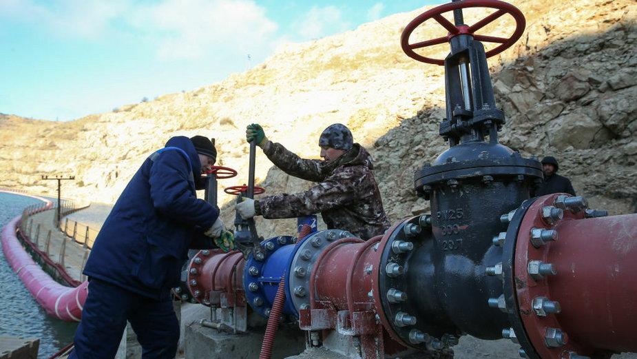 Przepompownia wody. Krym, grudzień 2020
