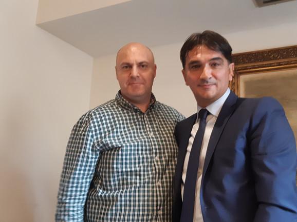 Zlatko Dalić sa urednikom sportske rubrike