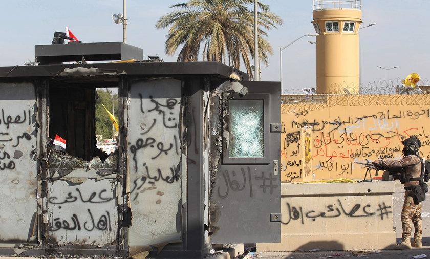 Kolejny atak rakietowy na ambasadę USA w Bagdadzie