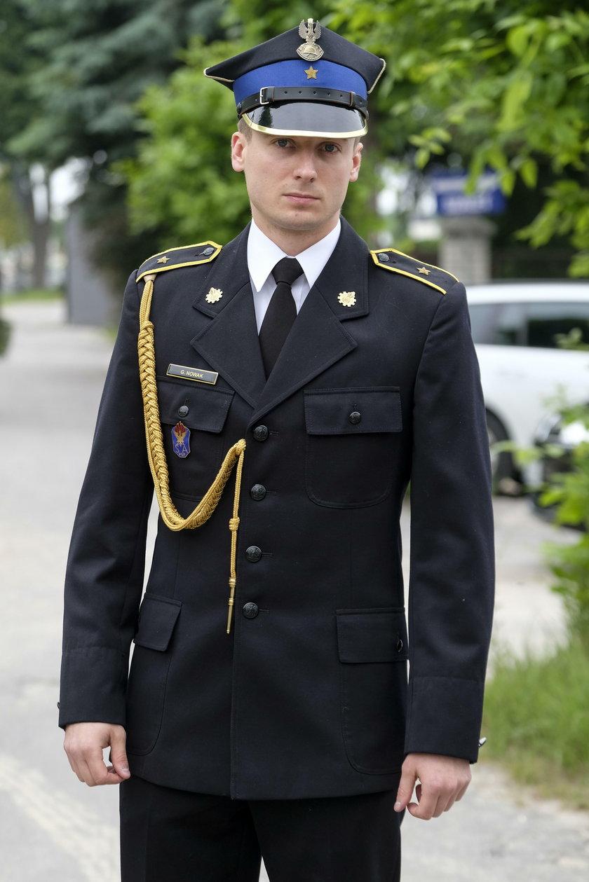 Asp. Grzegorz Nowak, rzecznik prasowy PSP w Zawierciu