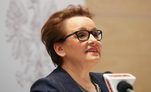 """""""Prawo oświatowe działa, podejmowane są uchwały o sieci szkół, to bardzo ważny element reformy edukacji"""" - mówiła minister"""
