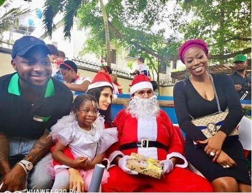 Davido, Sophia Momodu and their daughter, Imade at her school's end of year party