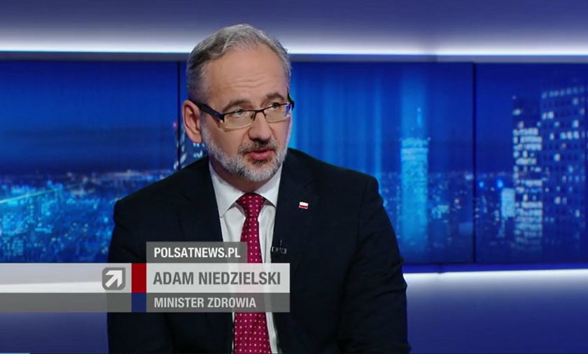 Adam Niedzielski w Polsat News mówił o apogeum czwartej fali koronawirusa.