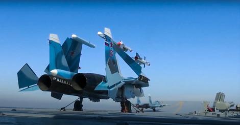 Ruski avioni sa Admirala Kuznjecova
